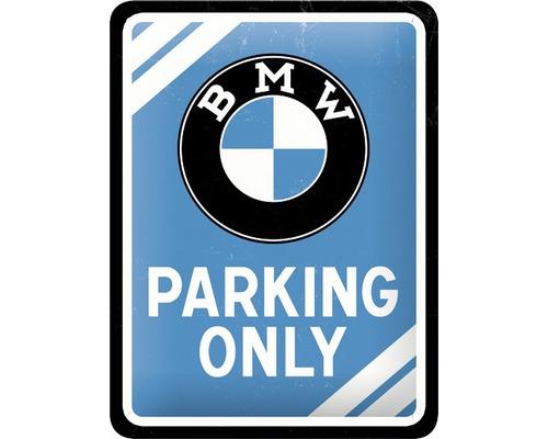 Plaque en tôle BMW Parking Only 15x20cm