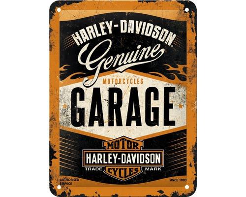 Plaque en tôle Harley-Davidson Garage 15x20cm