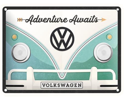 Plaque en tôle VW Bulli 15x20cm