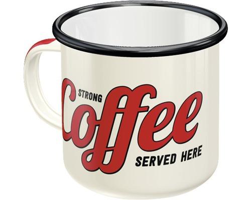 Mug en émail Strong Coffee