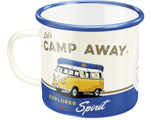 Mug en émail VW Bulli Camp Away