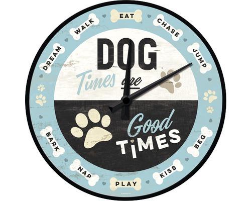 Horloge murale Dog Times Ø 31 cm