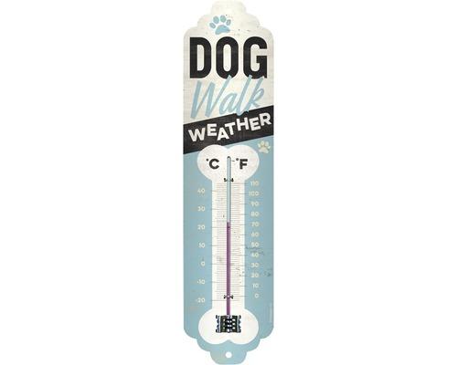 Thermomètre Dog Walk Weather 28x6,5 cm