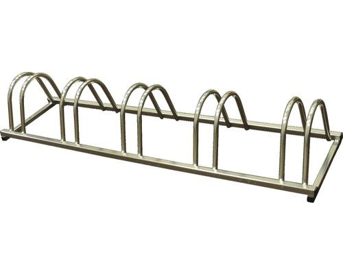 Porte-vélos pour 5 vélos, L 149 x P 38 x H 25 cm, galvanisé à chaud.