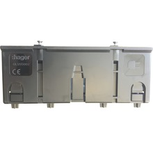 Boîtier de montage Hager GLS55002 double énergie pour profilé BR C noir-thumb-0
