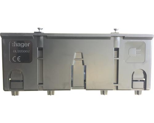Boîtier de montage Hager GLS55002 double énergie pour profilé BR C noir-0