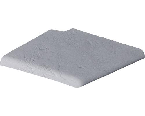 Bordure de piscine margelle Margo élément plat escalier romain à droite gris 35 x 35 x 3,2 cm
