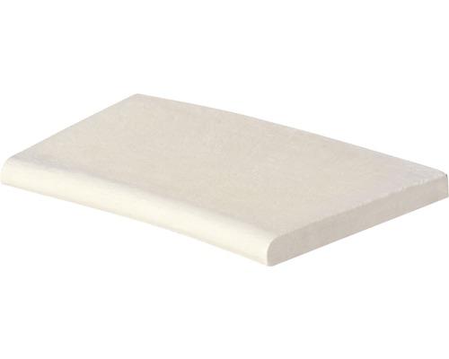 Bordure de piscine margelle Aquitaine élément plat avec courbe intérieure pour arrondi de rayon 400 cm blanc 50 x 31 x 3,2 cm