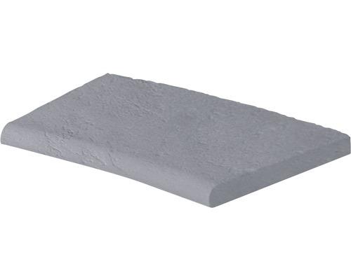 Bordure de piscine margelle Margo élément plat avec courbe intérieure pour arrondi de rayon 250 cm gris 50 x 31 x 3,2 cm