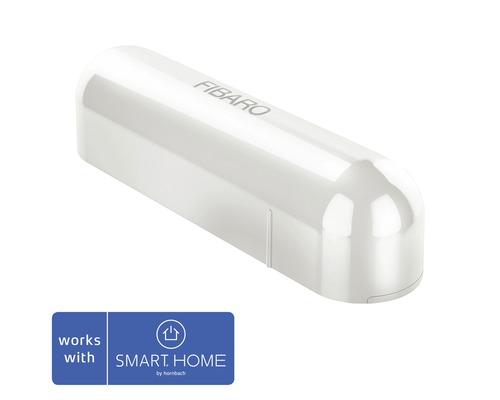 Contact de porte et fenêtre Fibaro blanc SMART HOME by hornbach avec capteur de température