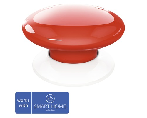 Fibaro Smart Button rouge SMART HOME by hornbach