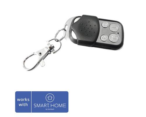 Mini télécommande Popp Z-Wave KFOB-C 4 touches noir SMART HOME by hornbach