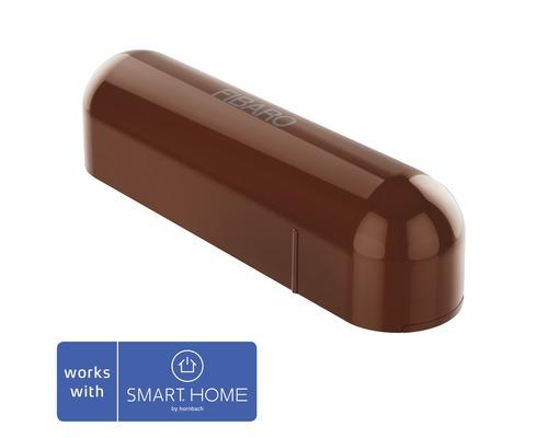 Contact de porte et fenêtre Fibaro avec capteur de température marron; compatible avec SMART HOME by hornbach