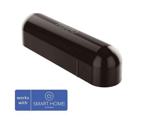 Contact de porte et fenêtre Fibaro avec capteur de température marron foncé; compatible avec SMART HOME by hornbach