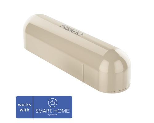 Contact de porte et fenêtre Fibaro avec capteur de température beige; compatible avec SMART HOME by hornbach