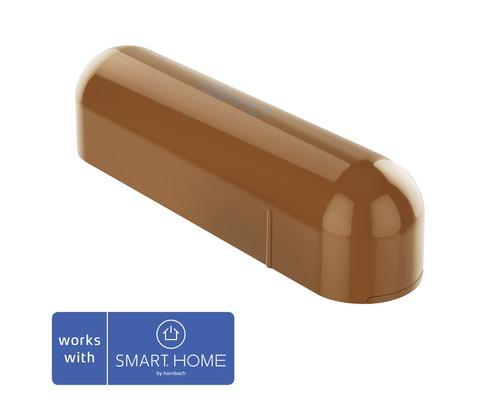 Contact de porte et fenêtre Fibaro avec capteur de température marron clair; compatible avec SMART HOME by hornbach