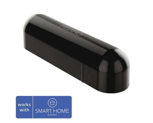 Contact de porte et fenêtre Fibaro avec capteur de température noir; compatible avec SMART HOME by hornbach