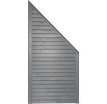 Élément de finition Diamond à droite 90x180/90cm gris clair-thumb-0