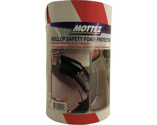 Protection en mousse 200x20x0,5cm rouge-blanc