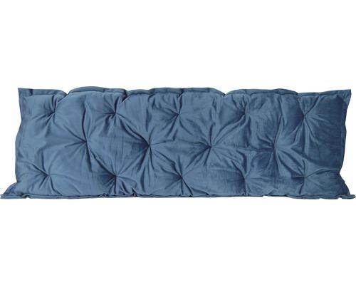 Galette de chaise Velvet gris bleu 120x40 cm-0