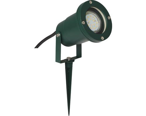 Spot à piquer à 1ampoule IP44 H285mm Frasco métal/verre verte