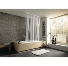 Store de douche pour cassette Kleine Wolke 128x240 blanc 100 rayures-thumb-0