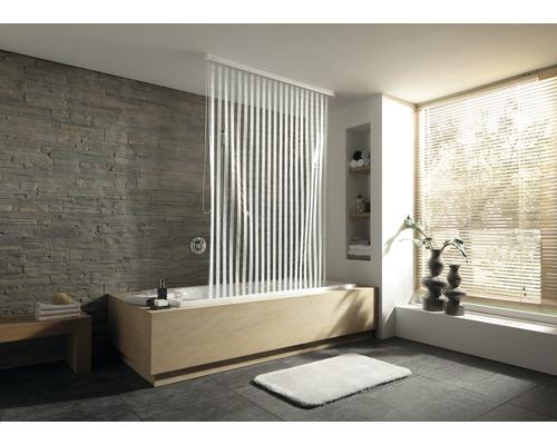 Store de douche pour cassette Kleine Wolke 128x240 blanc 100 rayures-0