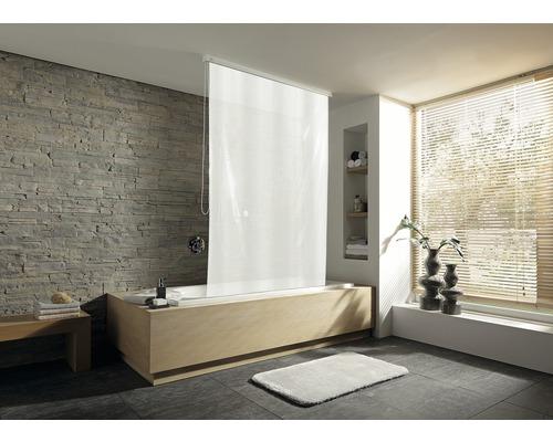 Store de douche pour casette Kleine Wolke 128x240 Uni blanc 109-0