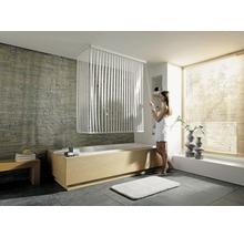 Store de douche d''angle avec cassette et store Kleine Wolke 138 + 62x240cm blanc 100-thumb-0