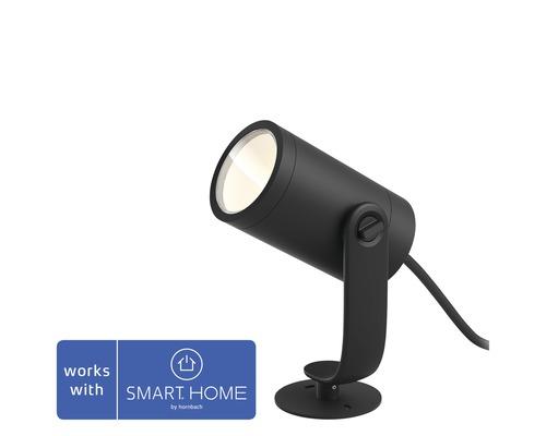 Spot LED Philips hue spot individuel White & Color Ambiance 8W 600 lm 2000-6500 K Lily kit de base noir compatible avec SMART HOME by hornbach