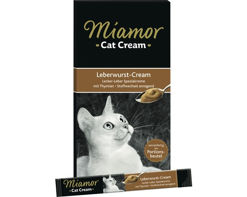 Friandise pour chat Miamor crème de foie 6x15g