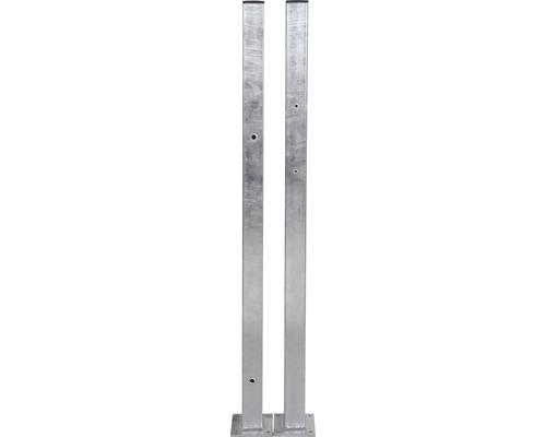 Ensemble de poteaux de portail pour portail à un vantail, zA, 60x60/1600 mm-0
