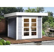 Abri de jardin Designhaus 126+ weka taille 1 dimension de passage élevée 195 cm, avec plancher 295 x 210 cm gris-thumb-0