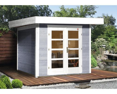 Abri de jardin Designhaus 126+ weka taille 1 dimension de passage élevée 195 cm, avec plancher 295 x 210 cm gris-0
