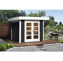 Abri de jardin Designhaus 126+ weka taille 2 dimension de passage élevée 195 cm, avec plancher 295 x 240 cm anthracite-thumb-0