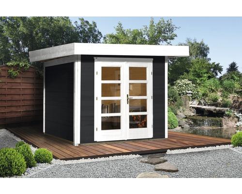 Abri de jardin Designhaus 126+ weka taille 2 dimension de passage élevée 195 cm, avec plancher 295 x 240 cm anthracite-0