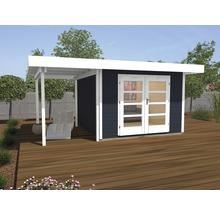 Abri de jardin Designhaus 126 A+ weka taille 1 dimension de passage élevée 195 cm, avec plancher et toit en appentis 442 x 240 cm anthracite-thumb-0