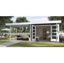 Abri de jardin Designhaus 126 B+ weka taille 2 dimension de passage élevée 195 cm, avec plancher et toit en appentis 590 x 300 cm anthracite-thumb-0