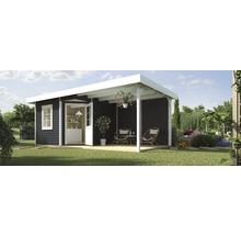 Abri de jardin Designhaus 213 B+ weka taille 1 dimension de passage élevée 195 cm, avec plancher et toit en appentis 533 x 238 cm anthracite-thumb-0