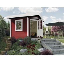 Abri de jardin Designhaus 213+ weka taille 2 dimension de passage élevée 195 cm, avec plancher 298 x 298 cm rouge-thumb-0