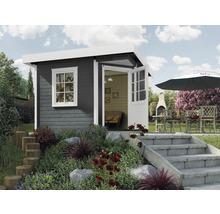 Abri de jardin Designhaus 213+ weka taille 2 dimension de passage élevée 195 cm, avec plancher 298 x 298 cm anthracite-thumb-0