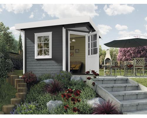Abri de jardin Designhaus 213+ weka taille 2 dimension de passage élevée 195 cm, avec plancher 298 x 298 cm anthracite-0