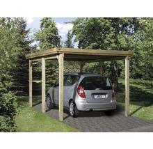 Carport simple weka 617 taille 1 sans couverture de toiture 322x512cm traité en autoclave par imprégnation-thumb-0