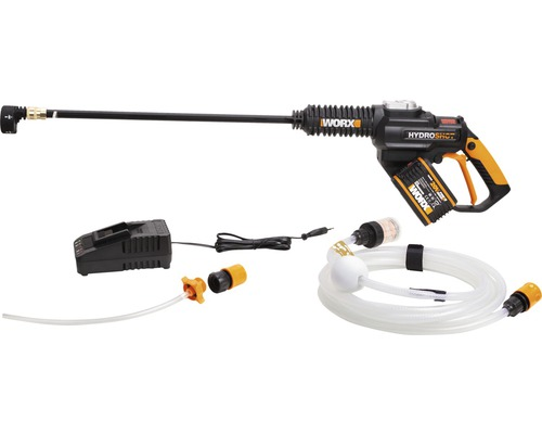 Akku- Hochdruckreiniger WORX Hydroshot WG630E 20 V inkl. Akku und Ladegerät (Druck 25 bar, 210 l/h)