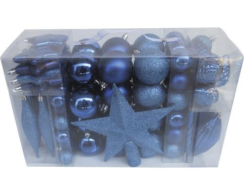 Boules de Noël Lafiora lot de 104 bleues