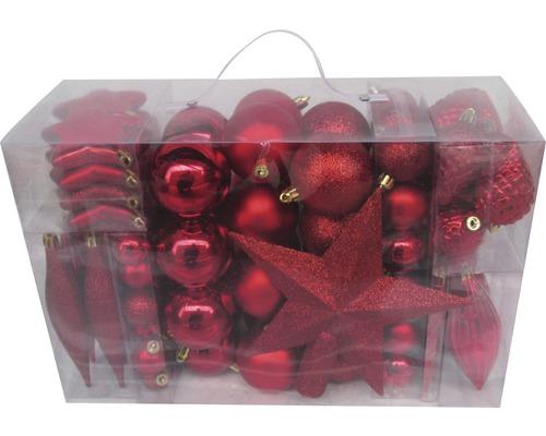 Boules de Noël lot de 104 ø rouges