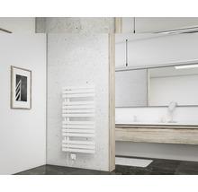 Radiateur design Schulte Breda 1060x600mm blanc alpin avec thermoplongeur 600W et remplissage-thumb-1