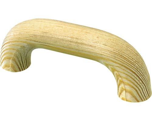 Poignée de meuble pin brut distance entre les trous 64 mm, Lxlxh 80/33/16 mm, 1 pièce-0
