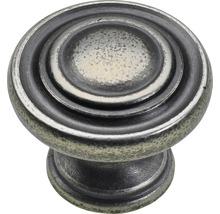 Bouton de meuble en zinc moulé sous pression couleur argent bruni, 1pièce-thumb-0