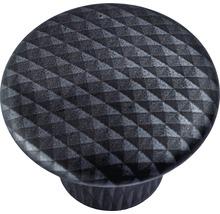 Bouton de meuble en plastique aspect carbone Ø32mm, 1pièce-thumb-0